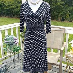 Beautiful black and white polka dot dress